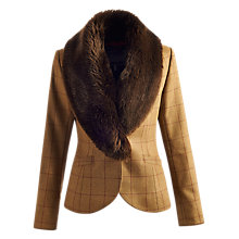 Buy Joules Larkworth Faux Fur Tweed Jacket, Holker Tweed Online at johnlewis.com