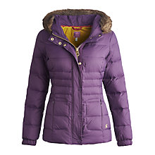 Buy Joules Hillier Padded Jacket, Dark Violet Online at johnlewis.com