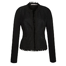 Buy Sandwich Tweed Smart Jacket, Black Online at johnlewis.com