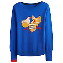 Buy Joules Three French Hens Jumper, Blue Online at johnlewis.com