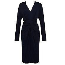 Buy Winser Draped Jersey Wrap Waist Dress, Midnight Navy Online at johnlewis.com