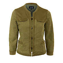 Buy Armani Jeans Jacquard Button Jacket, Khaki Online at johnlewis.com