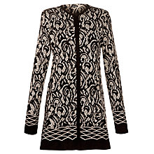 Buy Gerry Weber Print Button Cardigan, Black Online at johnlewis.com