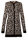 Gerry Weber Print Button Cardigan, Black