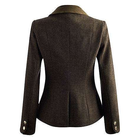 Buy Joules Larkworth Tweed Jacket, Dark Brown Online at johnlewis.com