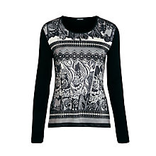 Buy Gerry Weber Print Front Top, Black Online at johnlewis.com