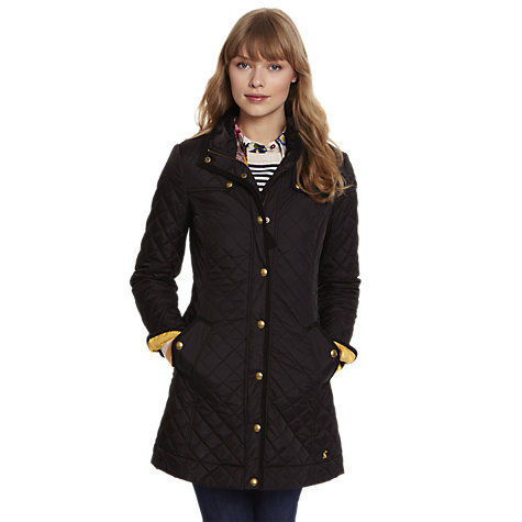 Buy Joules Fairhurst Quilted Jacket, Black Online at johnlewis.com
