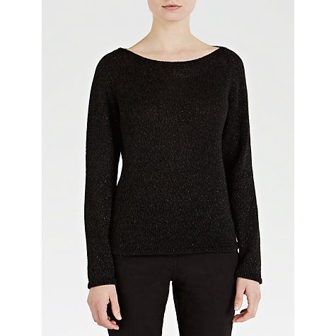 Buy Sandwich Sparkly Knit Jumper, Black Online at johnlewis.com