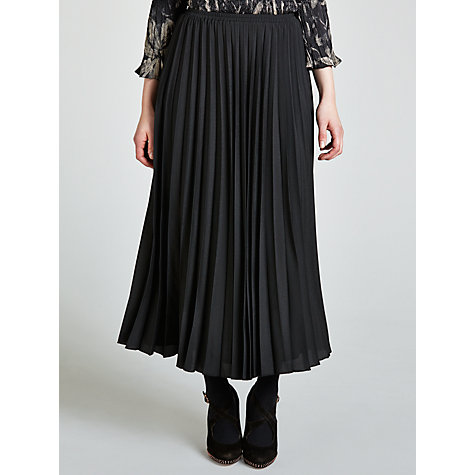 Buy Gerry Weber Long Pleat Skirt, Black Online at johnlewis.com