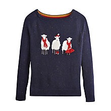 Buy Joules Christmas Sheep Jumper, Navy Online at johnlewis.com