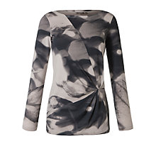 Buy Sandwich Leaf print Top, Oyster Online at johnlewis.com