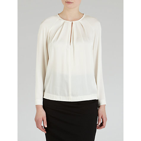 Buy Winser Lauren Silk Top, Ivory Online at johnlewis.com