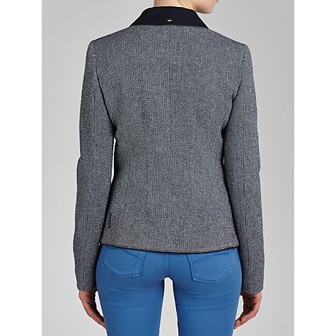 Buy Armani Jeans Textured 2-Button Blazer, Navy Online at johnlewis.com