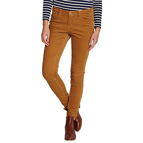 Buy Joules Darley Skinny Corduroy Trousers, Neutrals Online at johnlewis.com