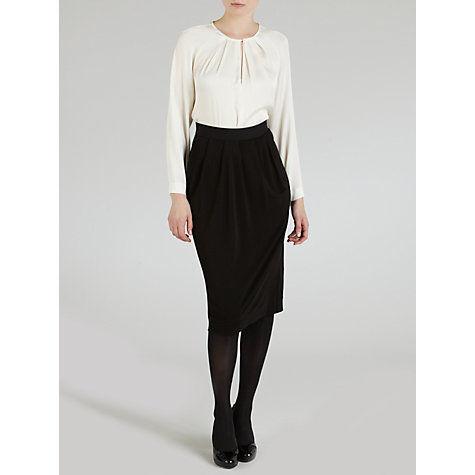 Buy Winser Jersey Drape Wrap Skirt, Black Online at johnlewis.com