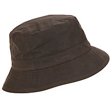 Buy Barbour Wax Cotton Sports Hat, Olive Online at johnlewis.com