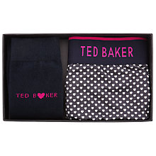 Buy Ted Baker Socks and Boxers Gift Set, Navy/Grey Online at johnlewis.com