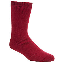 Buy Barbour Calf Length Wellington Socks, Burgundy Online at johnlewis.com