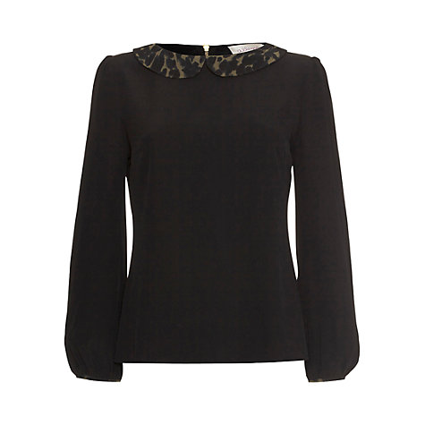 Buy allegra by Allegra Hicks Kennedy Animal Top, Black Online at johnlewis.com