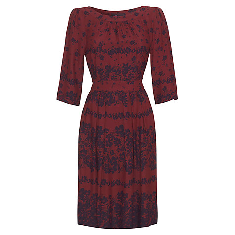 Buy allegra by Allegra Hicks Molly Floral Garden Dress, Claret Online at johnlewis.com