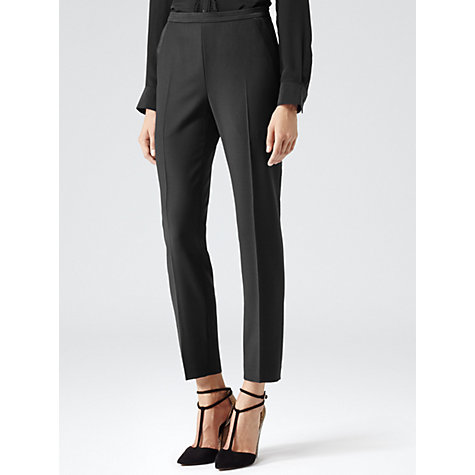 Buy Reiss Serge Tailored Trousers, Black Online at johnlewis.com