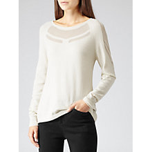 Buy Reiss Harney Texture Jumper, Off White Online at johnlewis.com