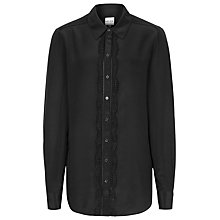 Buy Reiss Lea Trim Detail Shirt, Black Online at johnlewis.com