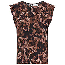 Buy Reiss Floral Print Top, Blush Online at johnlewis.com