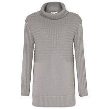 Buy Reiss Milford Chunky Roll Neck Jumper, Soft Grey Online at johnlewis.com