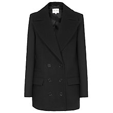 Buy Reiss Talais Wool & Jersey Peacoat Online at johnlewis.com