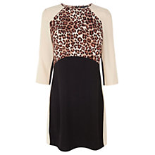 Buy Warehouse Paneled Animal Print Dress, Multi Online at johnlewis.com
