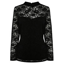 Buy Coast Heather Lace Top, Black Online at johnlewis.com
