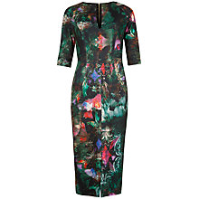 Buy Ted Baker Ivana Wing Print Dress, Black Online at johnlewis.com