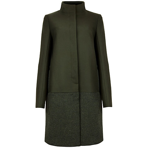 Buy Ted Baker Mohair Coat, Dark Green Online at johnlewis.com