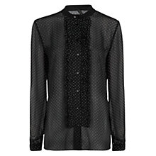 Buy Mango Polka Dot Chiffon Shirt, Black Online at johnlewis.com