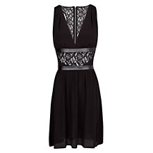 Buy Mango Lace Appliqué Flowy Dress, Black Online at johnlewis.com