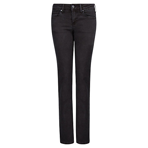 Buy Mango Straight Fit Jeans, Black Online at johnlewis.com