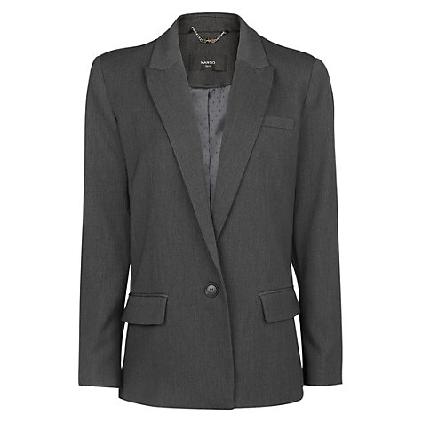 Buy Mango Boyfriend Blazer, Dark Grey Online at johnlewis.com