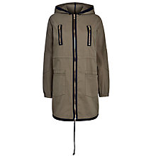 Buy Armani Jeans Zip Pocket Parka Jacket, Green Online at johnlewis.com