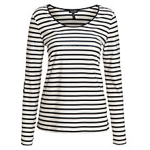 Buy Armani Jeans Sequin Stripe Top, Blue Online at johnlewis.com
