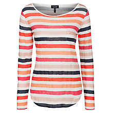 Buy Armani Jeans Stripe Top, Pink Multi Online at johnlewis.com