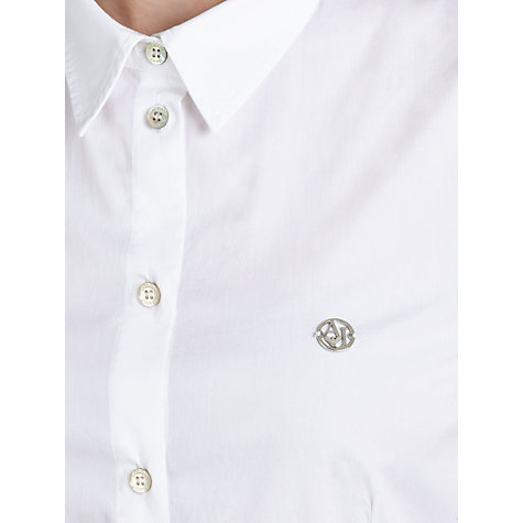 Buy Armani Jeans Tailored Shirt, White Online at johnlewis.com