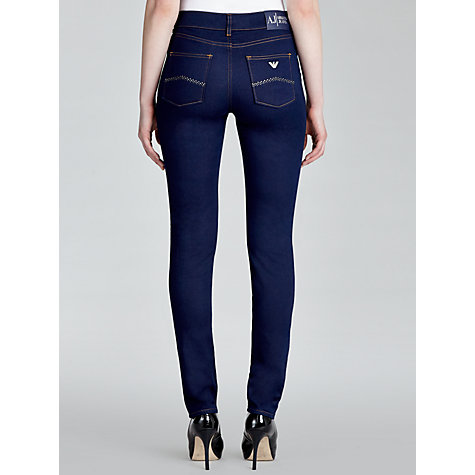 Buy Armani Jeans High Skinny Jeans, Blue Online at johnlewis.com