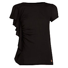 Buy Armani Jeans Ruffle Top, Black Online at johnlewis.com