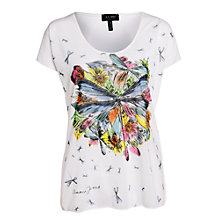 Buy Armani Jeans Dragonfly Bloom Tee, White Online at johnlewis.com