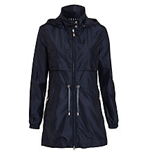 Buy Armani Jeans Drawstring Waist Laser Cut Coat, Indigo Online at johnlewis.com