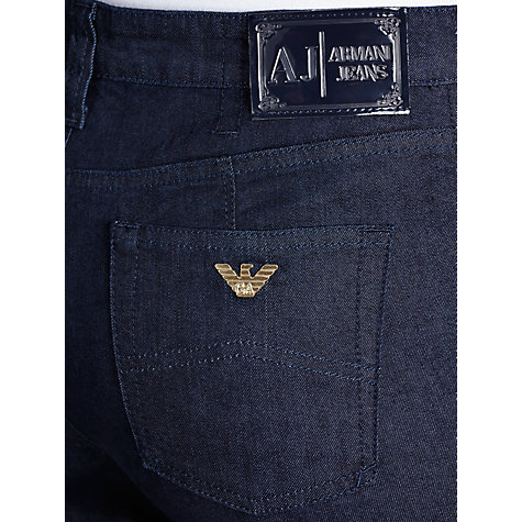 Buy Armani Jeans High Rise Straight Leg Jeans, Dark Blue Online at johnlewis.com
