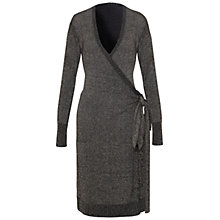 Buy Damsel in a dress Neroli Faux Wrap Dress, Black/Gold Online at johnlewis.com