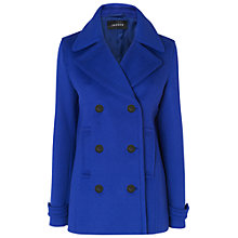 Buy Jaeger Short Pea Coat, Blue Online at johnlewis.com