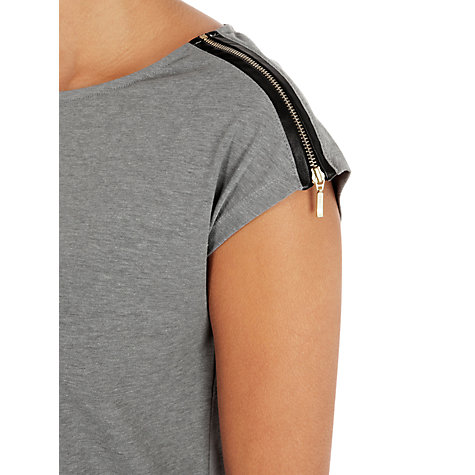 Buy Warehouse Zip Shoulder Tee Online at johnlewis.com